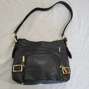 Stone Mountain Black Leather Handbag